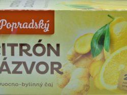 Čaj citrón zázvor